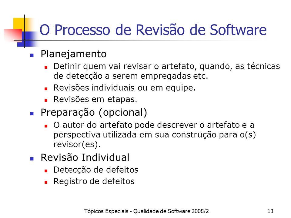 O Processo de Revisão de Software