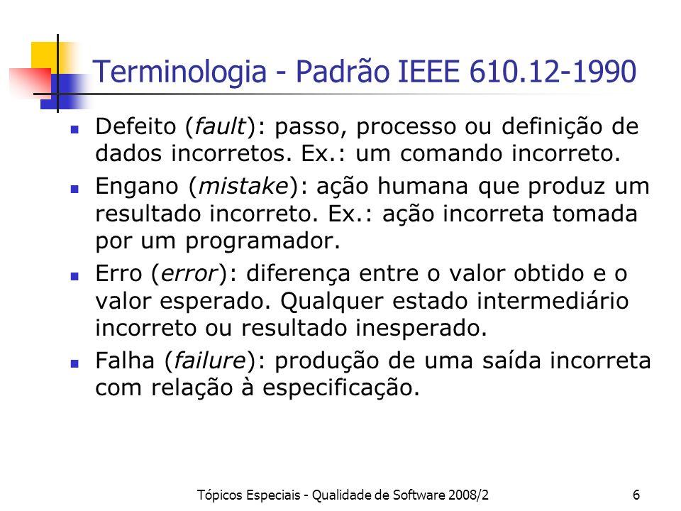 Terminologia - Padrão IEEE 610.12-1990