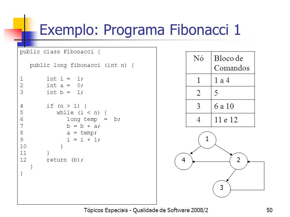 Exemplo: Programa Fibonacci 1