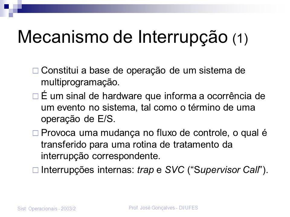 Mecanismo de Interrupção (1)