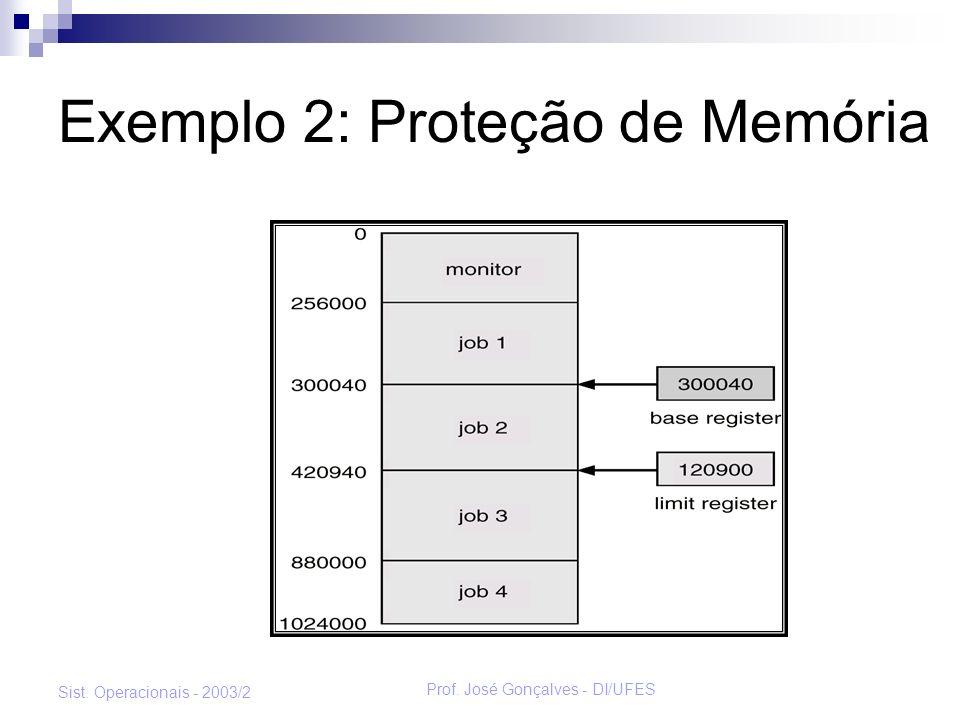 Exemplo 2: Proteção de Memória