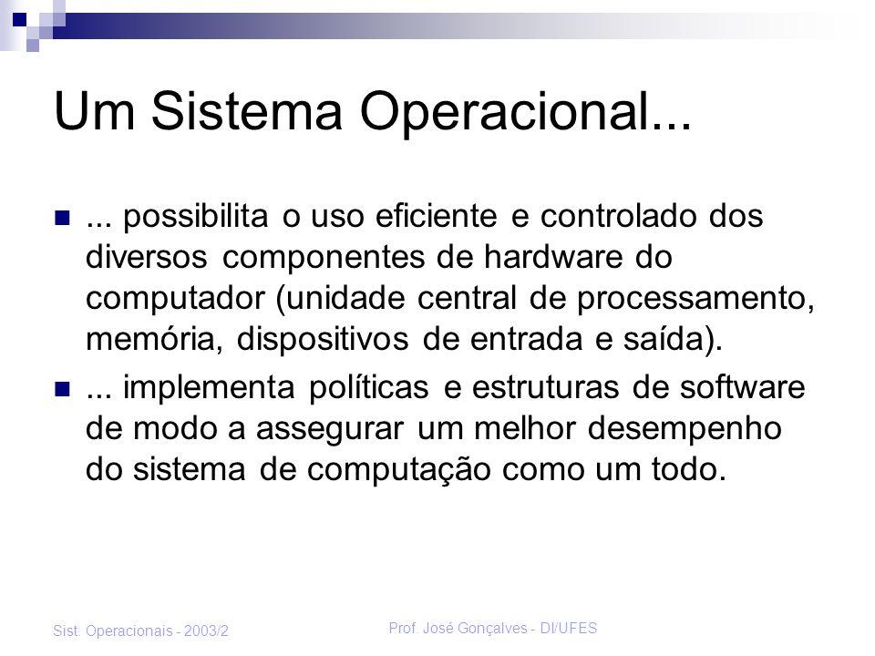 Um Sistema Operacional...
