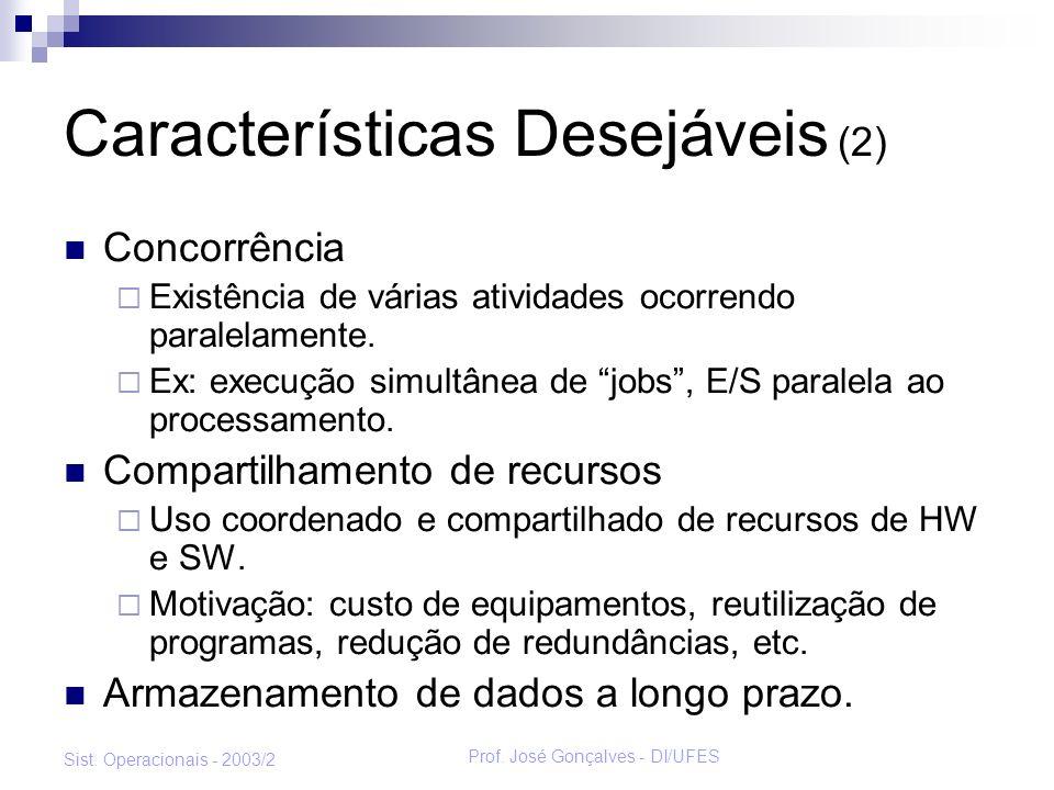 Características Desejáveis (2)