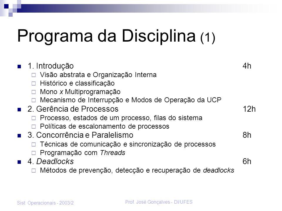 Programa da Disciplina (1)
