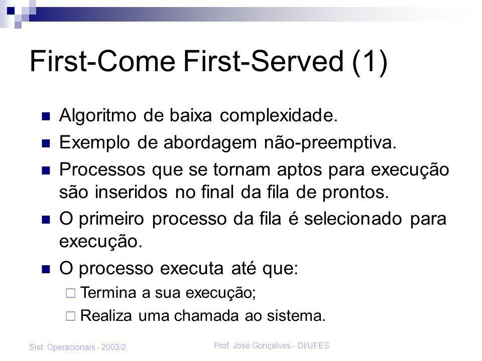 First-Come First-Served (1)