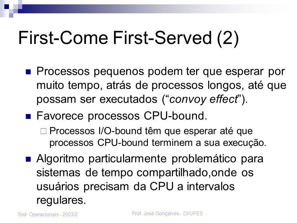 First-Come First-Served (2)