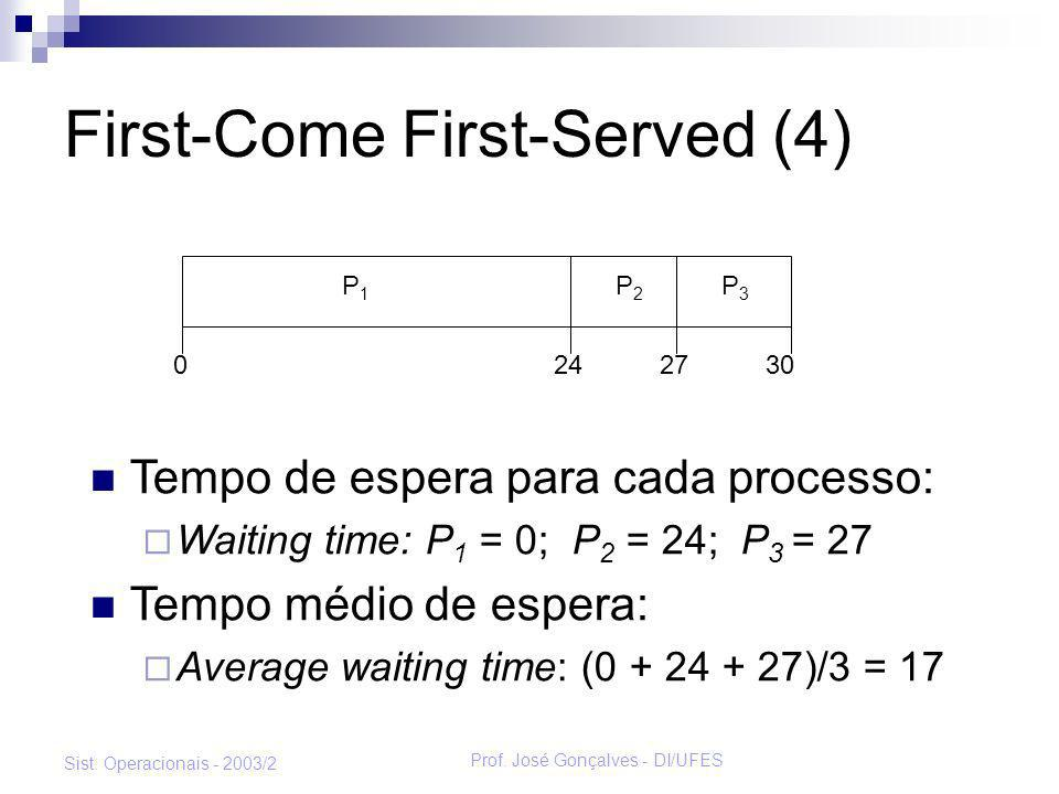 First-Come First-Served (4)