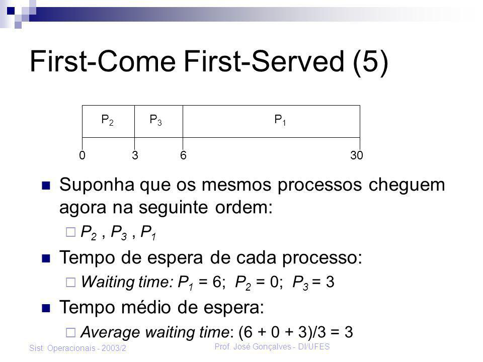 First-Come First-Served (5)