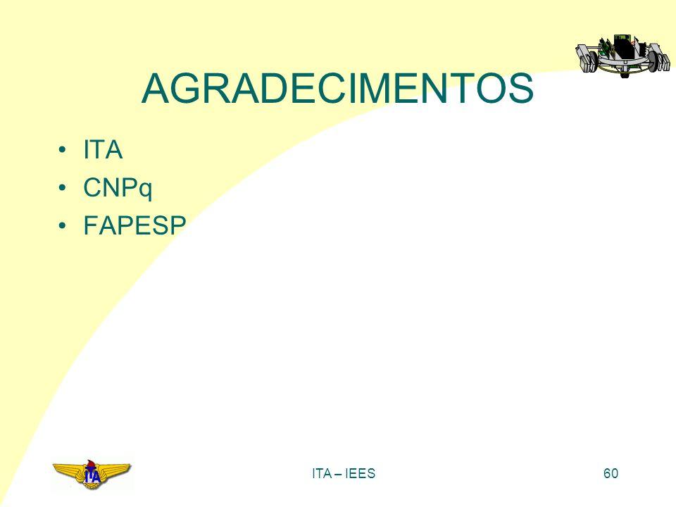 AGRADECIMENTOS ITA CNPq FAPESP ITA – IEES