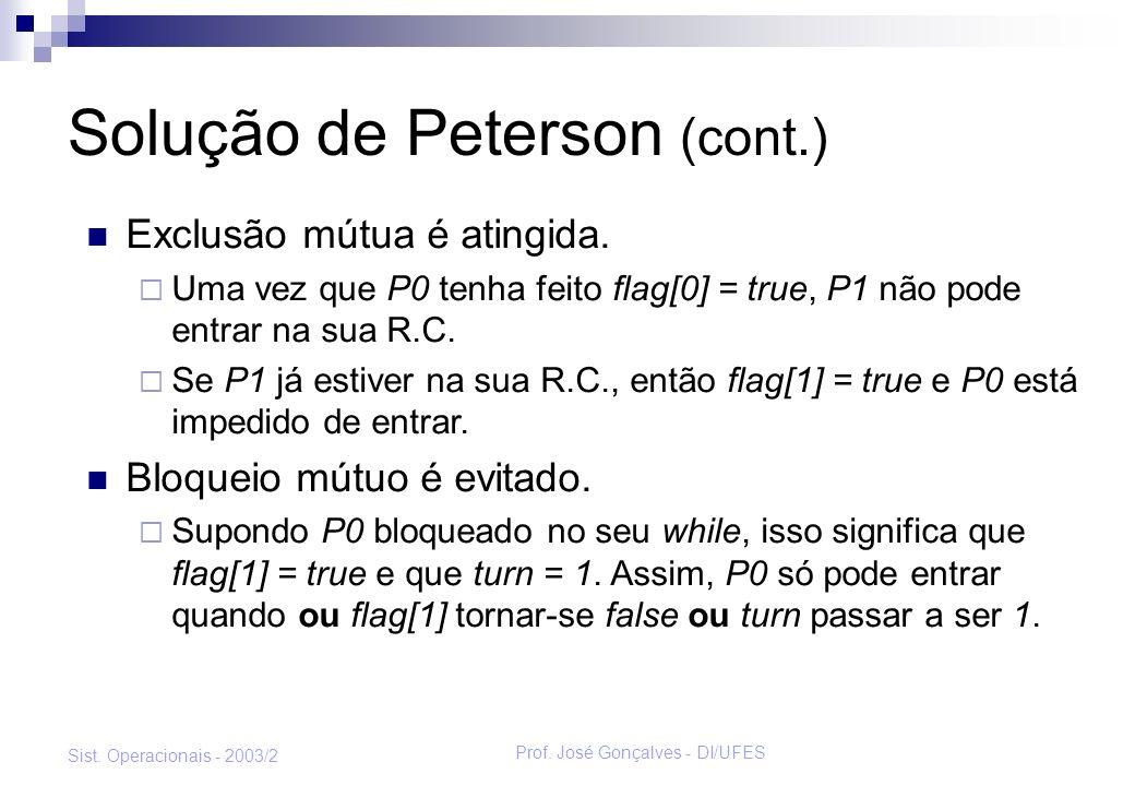 Solução de Peterson (cont.)