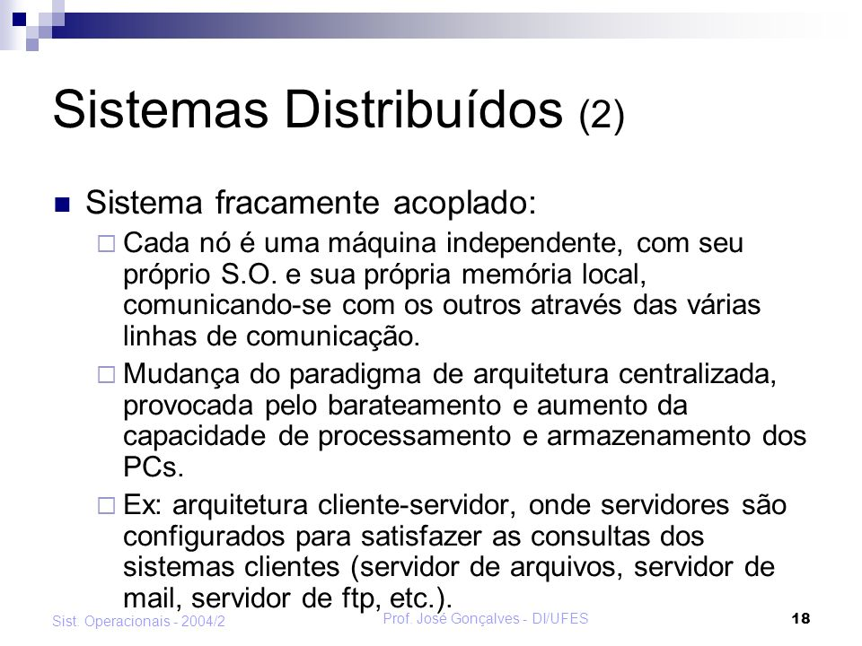 Sistemas Distribuídos (2)