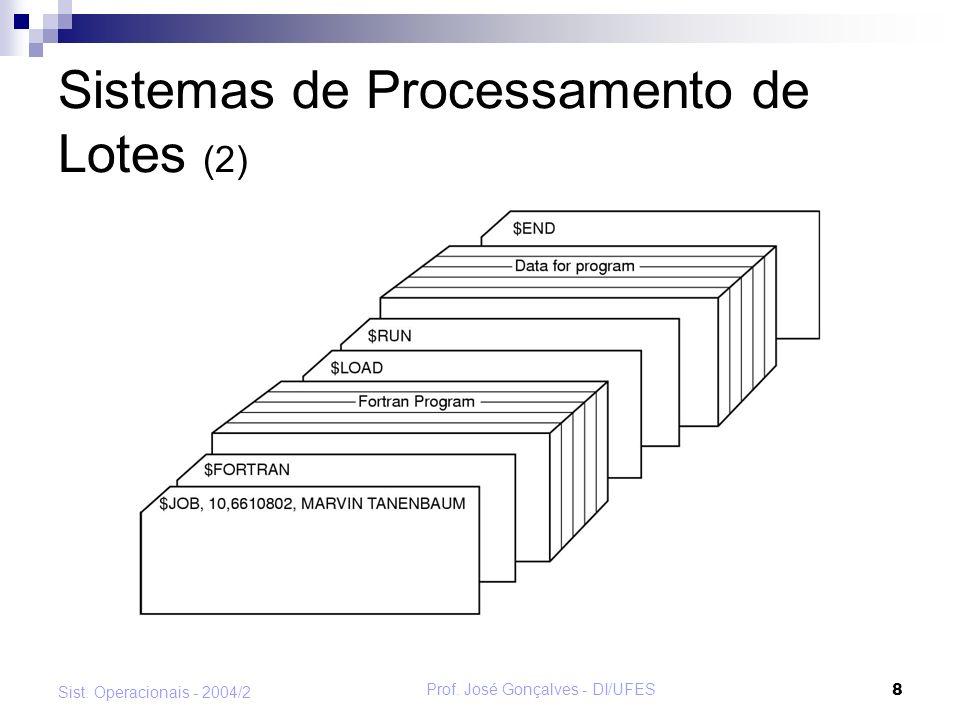 Sistemas de Processamento de Lotes (2)