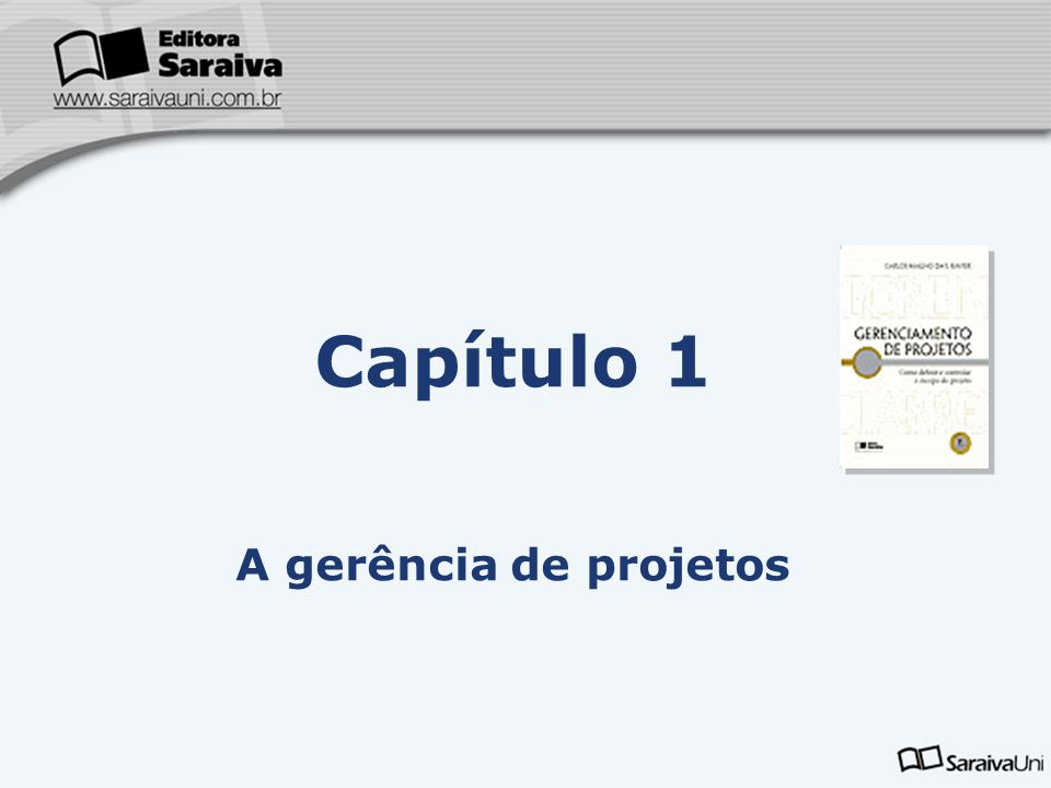 Capítulo 1 A gerência de projetos