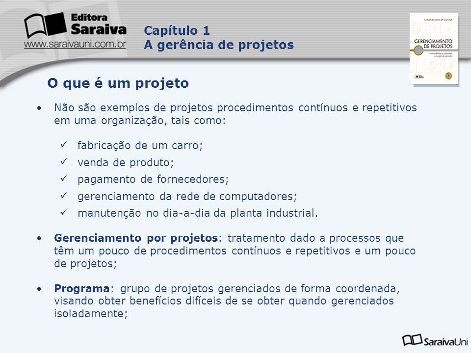 O que é um projeto Capítulo 1 A gerência de projetos