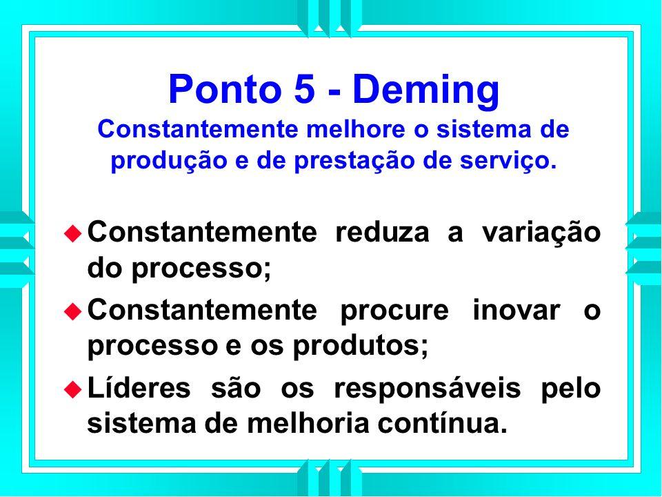 Ponto 5 - Deming Constantemente melhore o sistema de produção e de prestação de serviço.