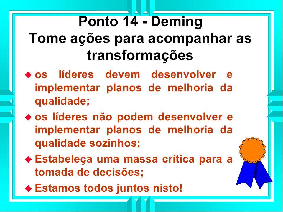 Ponto 14 - Deming Tome ações para acompanhar as transformações