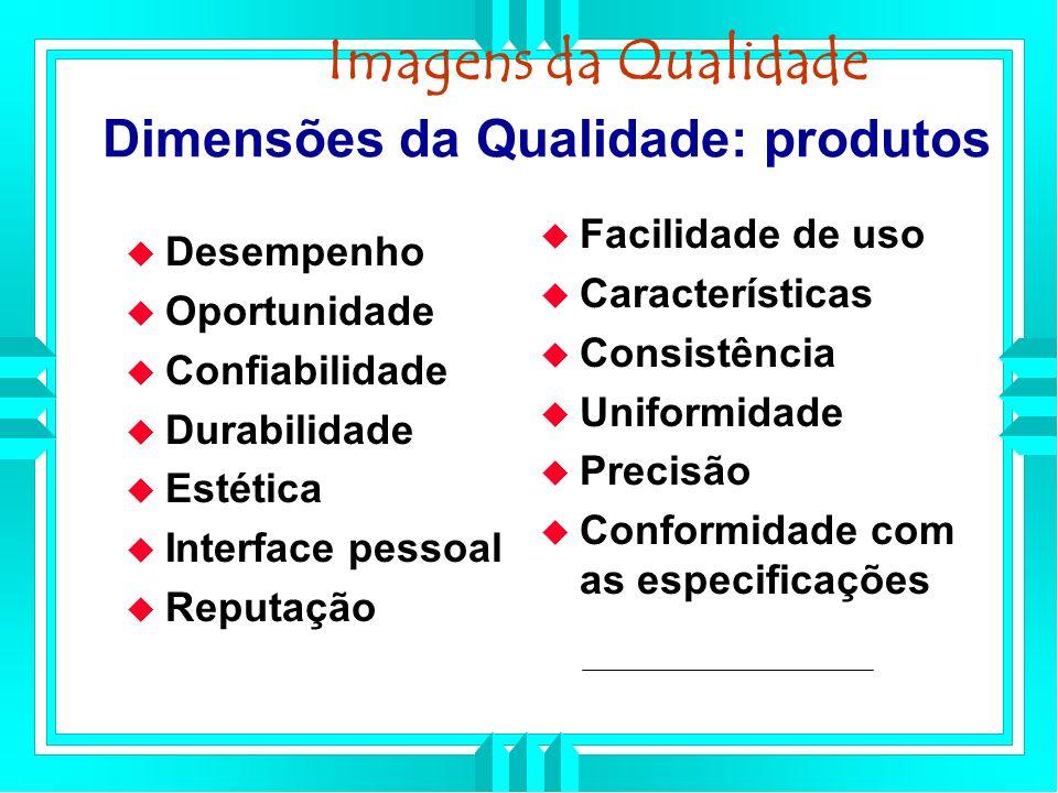 Dimensões da Qualidade: produtos