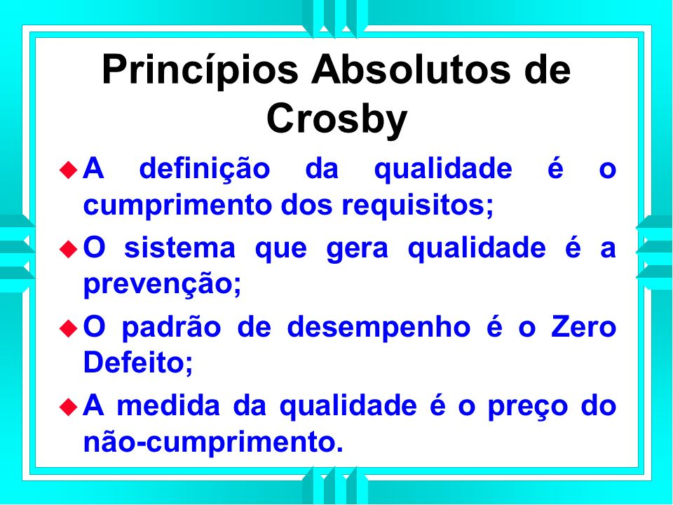 Princípios Absolutos de Crosby
