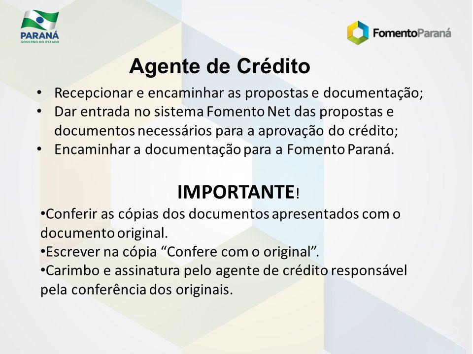 Agente de Crédito IMPORTANTE!