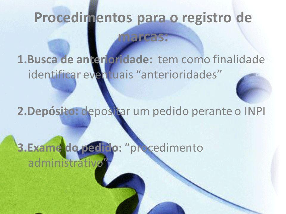 Procedimentos para o registro de marcas: