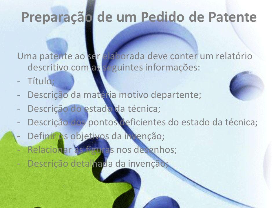 Preparação de um Pedido de Patente