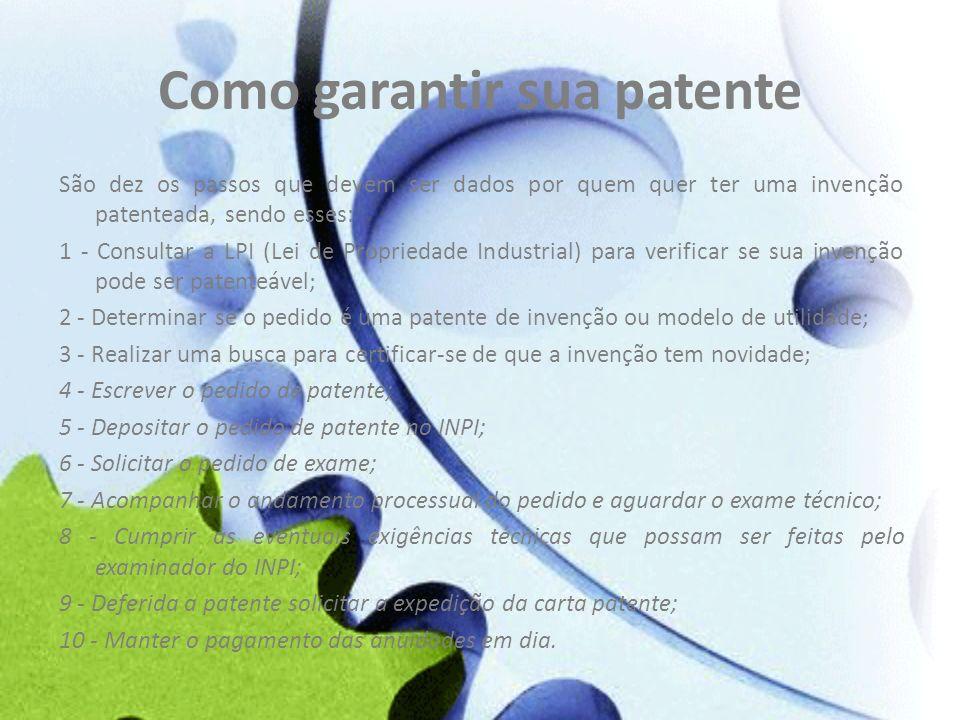 Como garantir sua patente