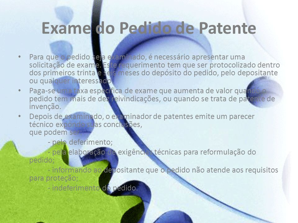 Exame do Pedido de Patente