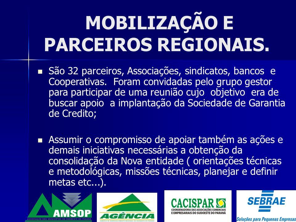 MOBILIZAÇÃO E PARCEIROS REGIONAIS.