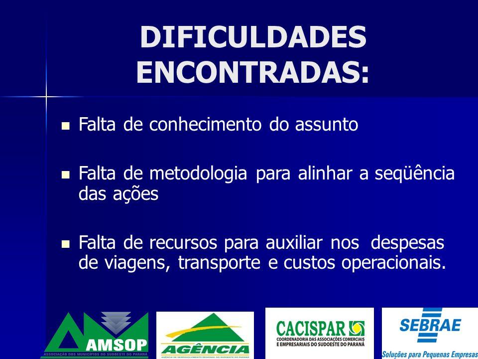 DIFICULDADES ENCONTRADAS: