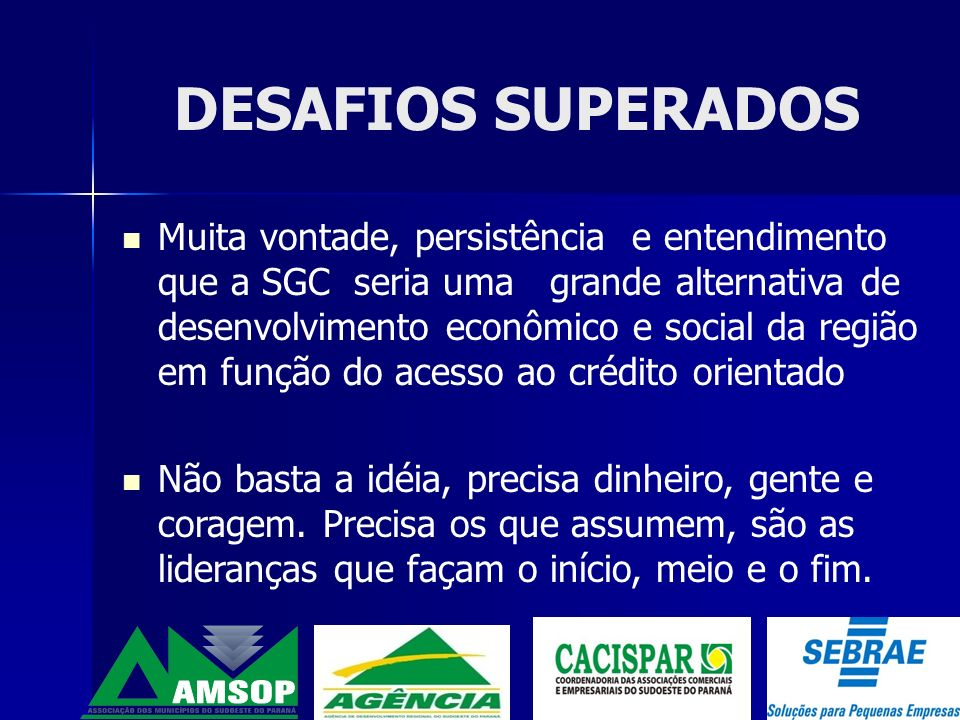 DESAFIOS SUPERADOS