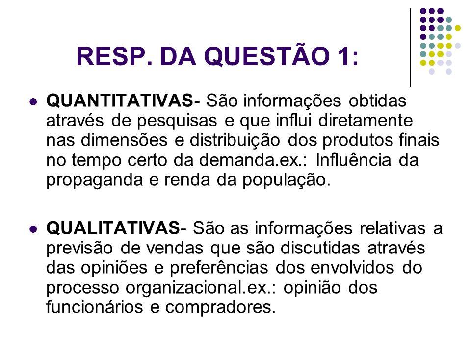 RESP. DA QUESTÃO 1: