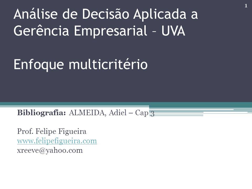 Análise de Decisão Aplicada a Gerência Empresarial – UVA Enfoque multicritério