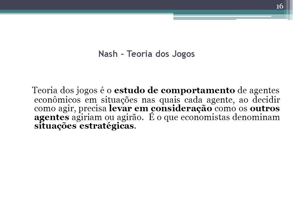 Nash – Teoria dos Jogos