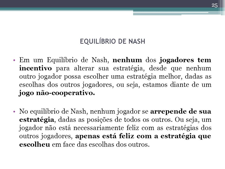 EQUILÍBRIO DE NASH