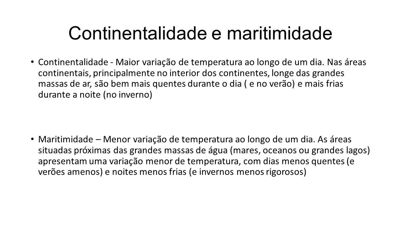 Continentalidade e maritimidade