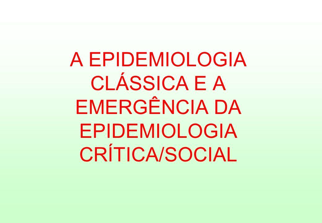 A EPIDEMIOLOGIA CLÁSSICA E A EMERGÊNCIA DA EPIDEMIOLOGIA CRÍTICA/SOCIAL