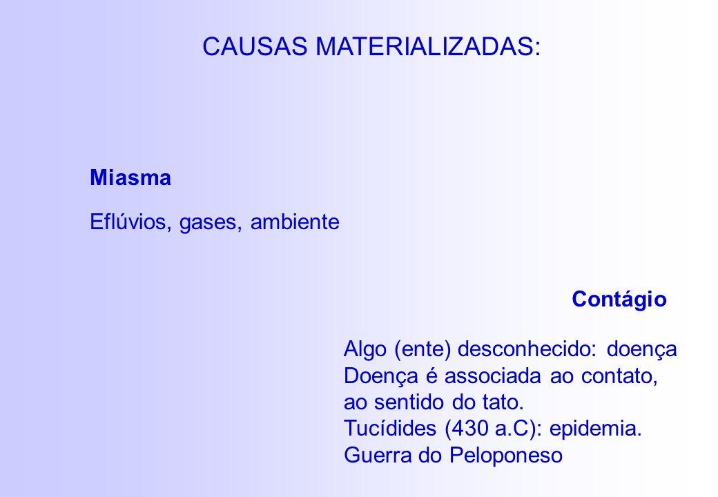 CAUSAS MATERIALIZADAS: