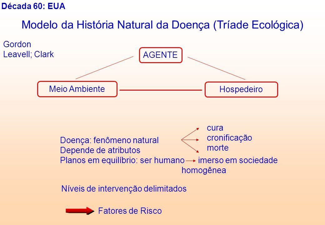 Modelo da História Natural da Doença (Tríade Ecológica)