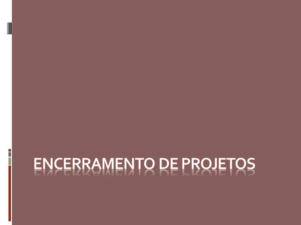 Encerramento de projetos