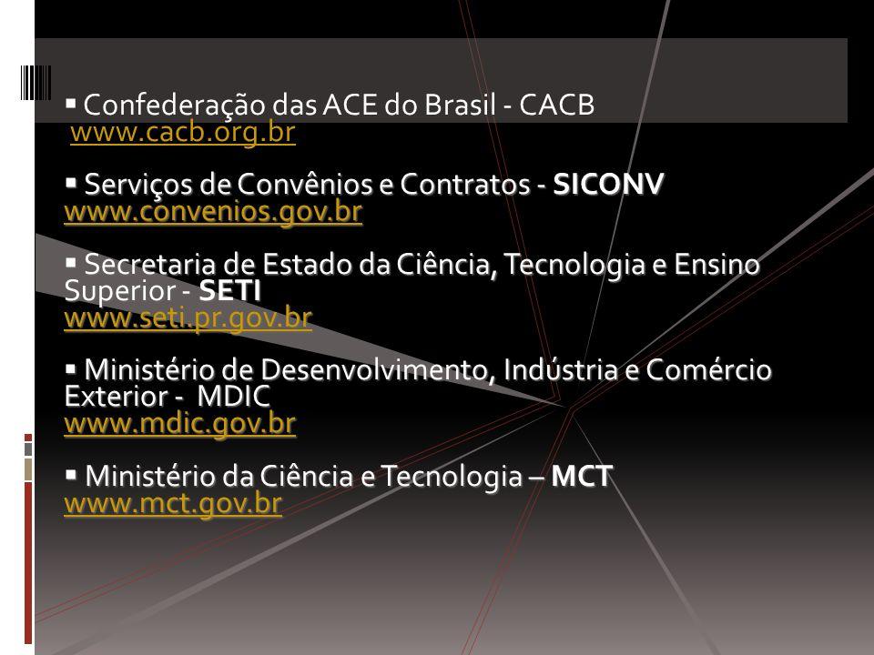  Confederação das ACE do Brasil - CACB www.cacb.org.br