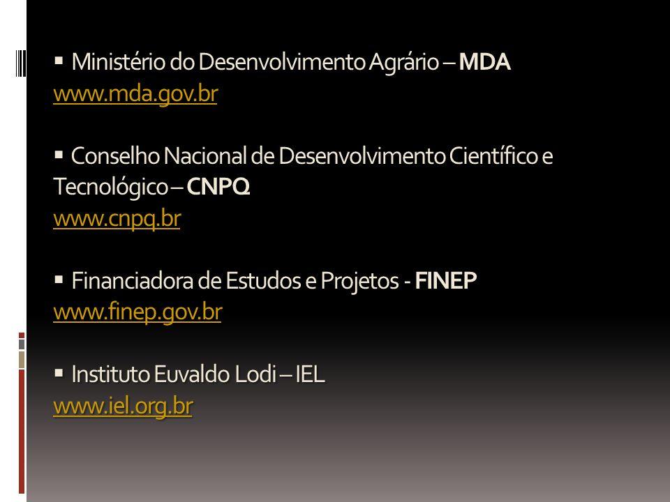  Ministério do Desenvolvimento Agrário – MDA www. mda. gov