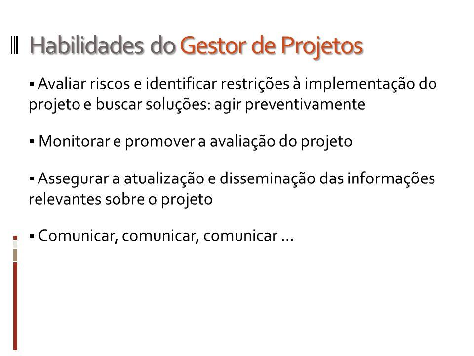 Habilidades do Gestor de Projetos