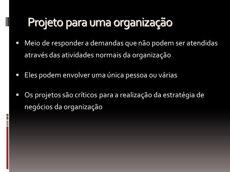 Projeto para uma organização