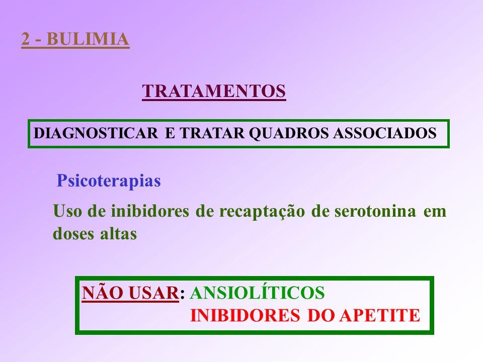Uso de inibidores de recaptação de serotonina em doses altas