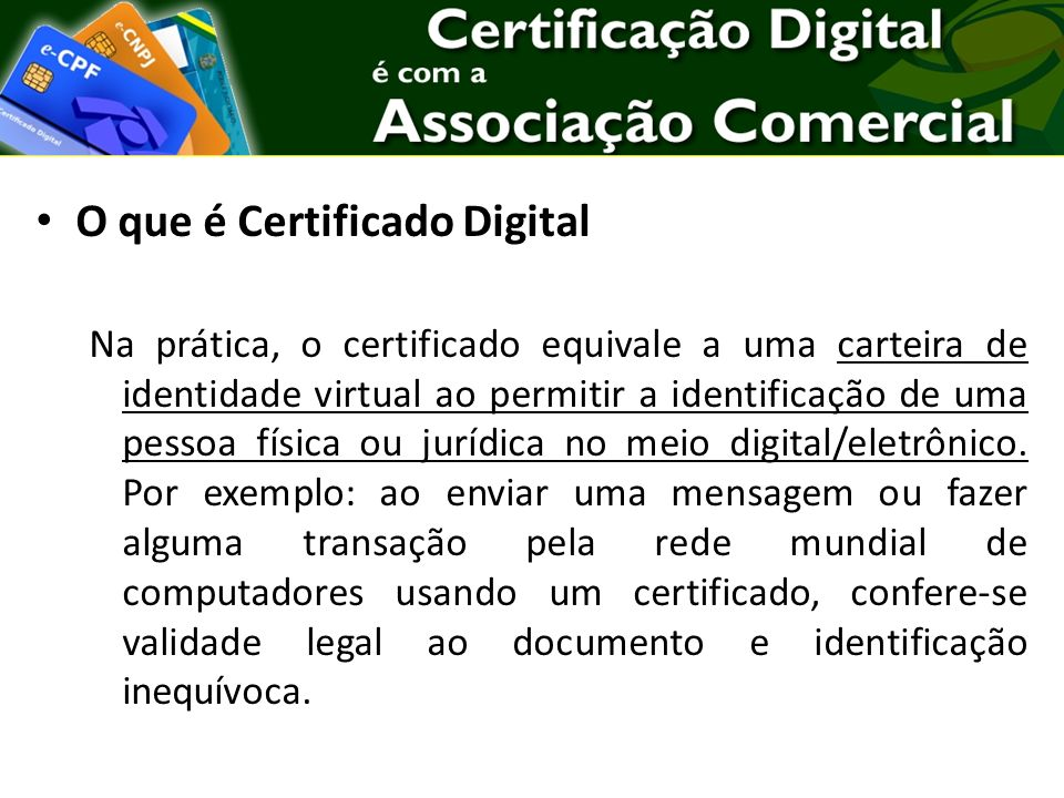 O que é Certificado Digital