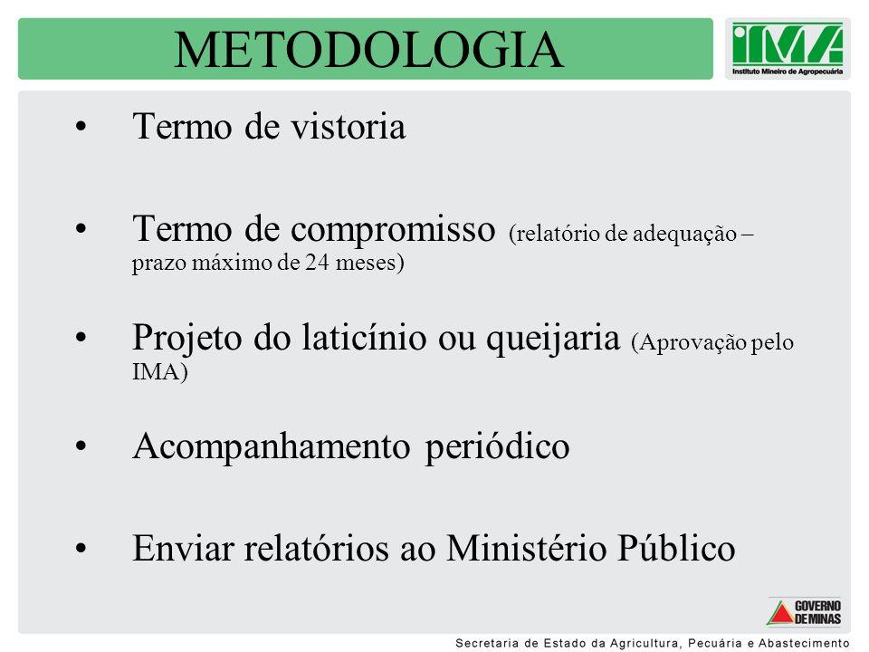METODOLOGIA Termo de vistoria