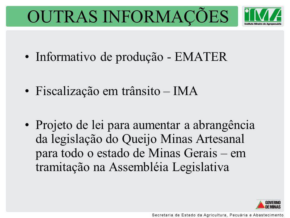 OUTRAS INFORMAÇÕES Informativo de produção - EMATER