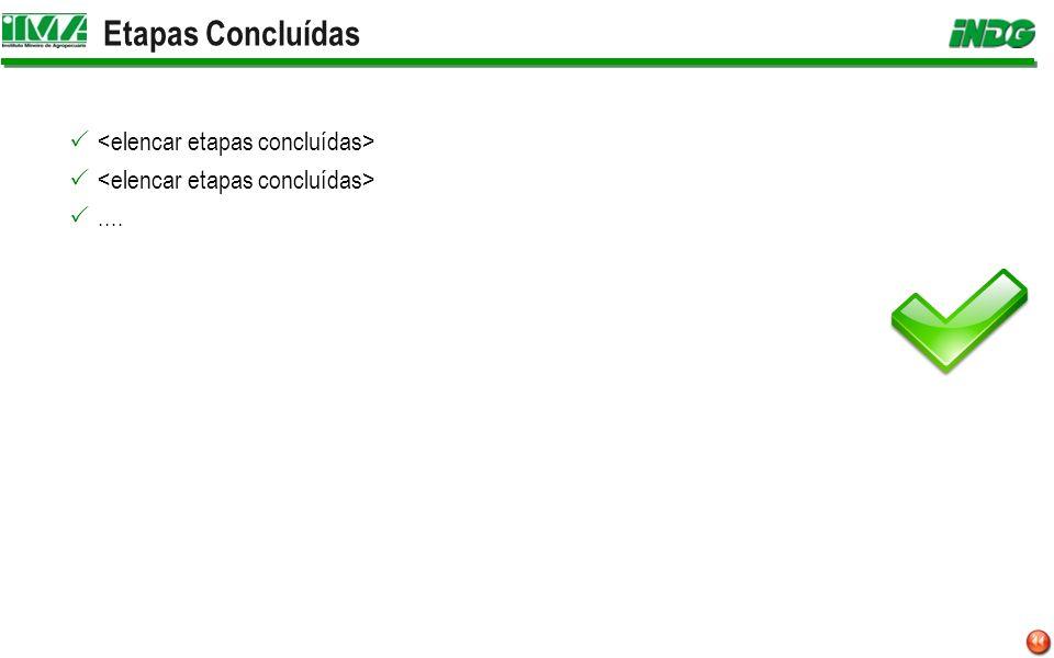 Etapas Concluídas <elencar etapas concluídas> ....