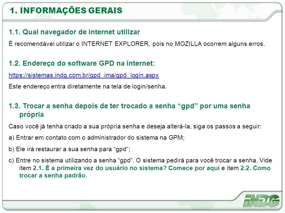 1. INFORMAÇÕES GERAIS 1.1. Qual navegador de internet utilizar