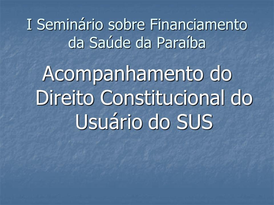 I Seminário sobre Financiamento da Saúde da Paraíba